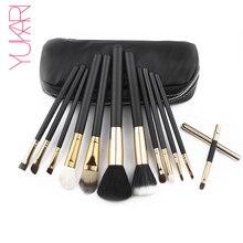 YUKARI 12PCS Makeup Brush Set kwasten high quality Beauty Blush Foundation Contour Powder font b Cosmetics