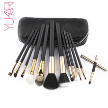 YUKARI 12PCS Makeup Brush Set kwasten high quality Beauty Blush Foundation Contour Powder Cosmetics eye lips make up Brush set