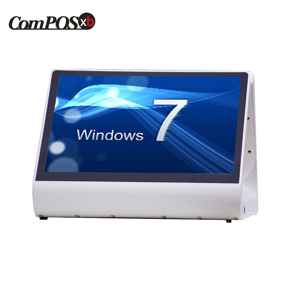 New 12 inch Windows 7 POS system capacitive touch screen monitor restaurant all in one windows