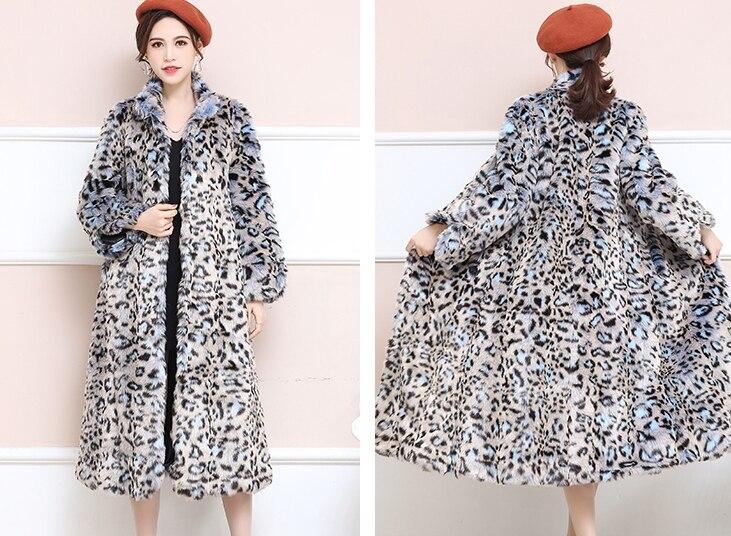 Mode Xhsd Leopard Épais 345 Veste Faux Sexy Arrivée Manteau Fourrure Nouvelle Femmes Chaud Impression Léopard D'hiver Vison De CqIRq