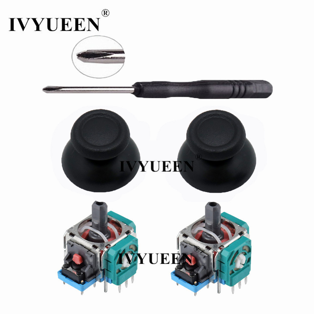 US $2 46 15% OFF|IVYUEEN 3D Analog Joystick Sensor Module Potentiometer &  Thumb Stick for Sony PlayStation 4 PS4 Pro Slim Controller Repair Parts-in
