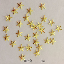 1 Pack about100psc Summer Hot Style Marine Series of Starfish Nail Semicircle Rivet3D Nail Art Decoracao Glue and Paste ToolsH02