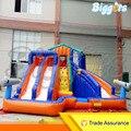 Inflatable Biggors Детский Надувной Бассейн С Горками Надувной Водной Горкой