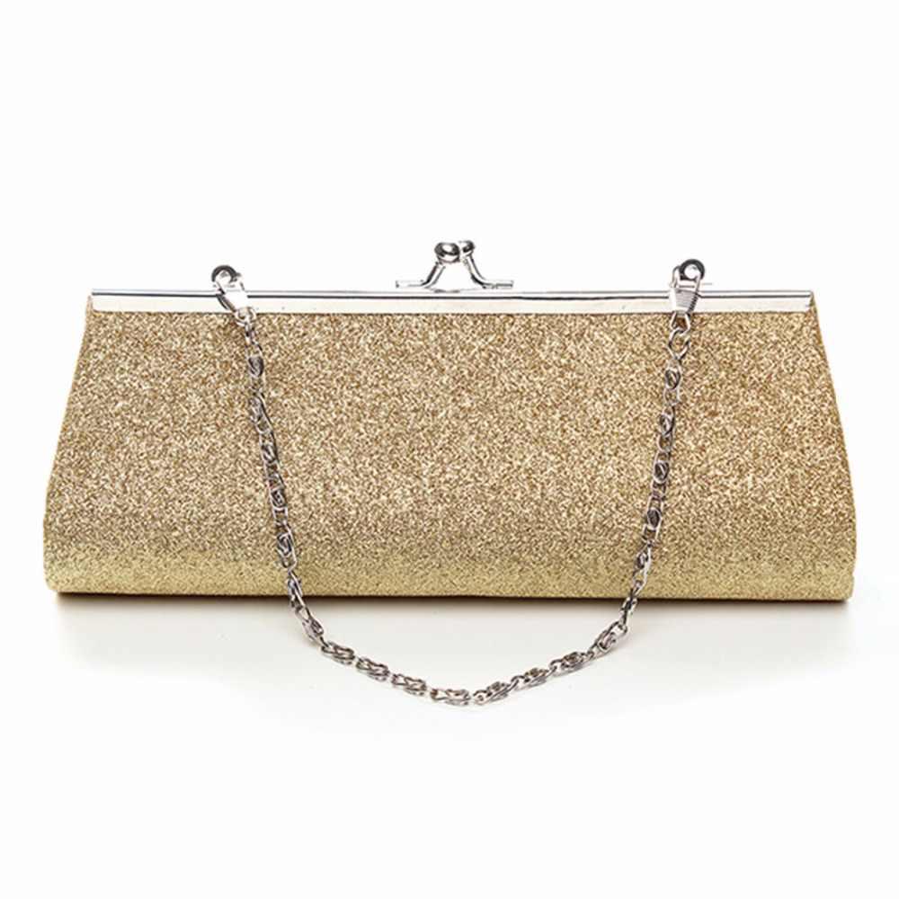 Новинка 2018 женская вечерняя сумка блестящая Свадебная Сумка клатч с шелковой