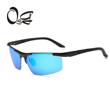 OSG Aluminum Magnesium sunglasses vintage men Polarized Coating Mirror Sun Glasses oculos Male Eyewear Accessories For Men 2017