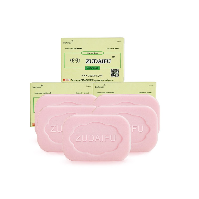 10PCS Zudaifu Sulfur Soap Cleanser Oil-Control Treatment Psoriasis EczemaAnti Fungus Bath Whitening Soap Shampoo Handmade Soap