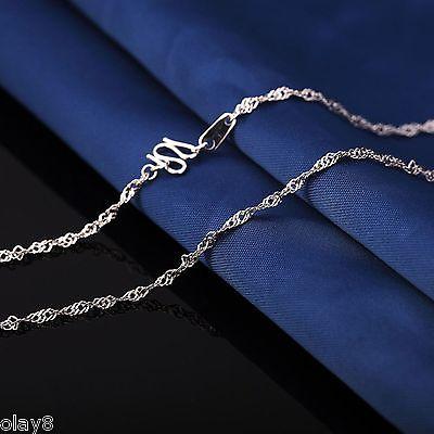 New Fashion Platinum 950 Necklace Womens Singapore Link Chain Necklace 18inchNew Fashion Platinum 950 Necklace Womens Singapore Link Chain Necklace 18inch