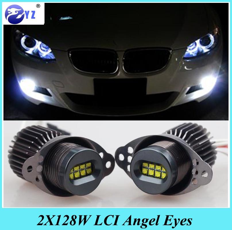 *BMW E90 E91 LCI Angel Eye Upgrade Halo Rings 80w CREE Halogen Lamps Marker