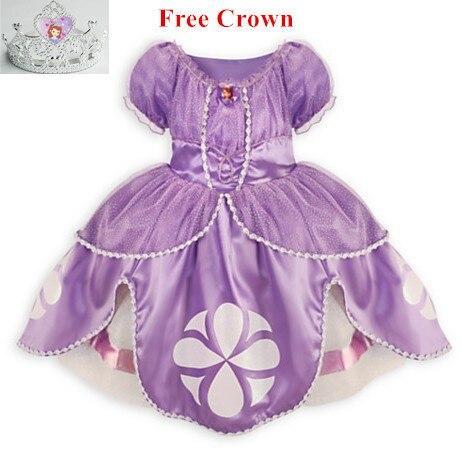 Принцесса софия платье костюм disfraz princesa sofia vestido принцесса софия princesinha софия первый vestido infantil meninas