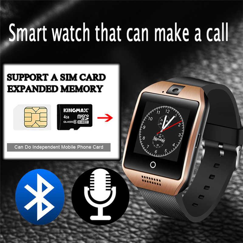 2019 ליגע חדש Bluetooth חכם שעון להתחבר נייד טלפון מוסיקה לשחק שעון מעורר אנטי איבד תמיכה TF SIM מצלמה ספורט SmartWatch