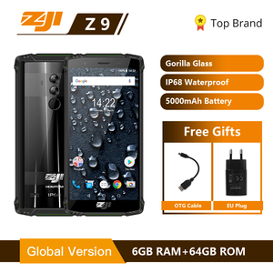 "Image 1 - HOMTOM ZOJI Z9 IP68 עמיד למים Helio P23 אנדרואיד 8.1 אוקטה core Smartphone 5.7 ""6 GB 64 GB 5500 mAh פנים מזהה טביעת אצבע טלפון נייד"