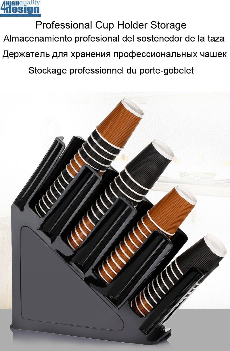 Paper Cup Storage Holder Drink Bottle Cashier Storage Rack Desk Shelf Professional in Bar Counter