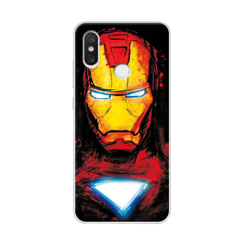 best service e7f26 17d00 Charming Case For Xiaomi Redmi Note 5 Pro Cover Avengers Iron Man Phone  Cases For Redmi note 5 pro Covers 7 Note5 Global Version