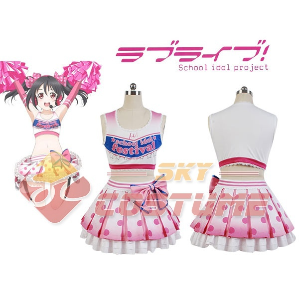 LoveLive! Love Live Yazawa Niko Cheerleaders Cosplay Costume Women Girls Summer Summer Uniform Dress Halloween Pary Club Ամբողջ հավաքածու