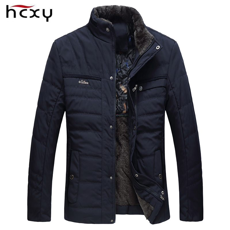 HCXY 2018 Mens Winter Jacket Thick Warm Down Jacket For Men Outerwear Zippers Parkas