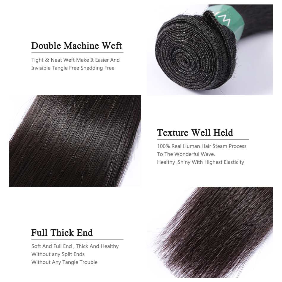 28 30 32 40 Inch 3 Brazilian Straight Hair Weave Bundles Deals Double Drawn Raw Unprocessed Virgin Weaving Human Hair Extension 4