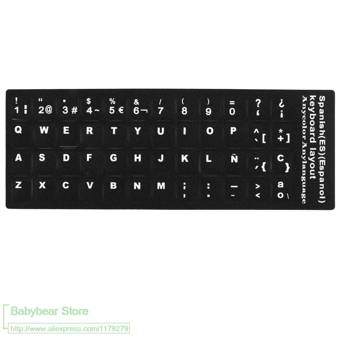 spanish letters on keyboard 50pcs letters alphabet learning keyboard layout 24930