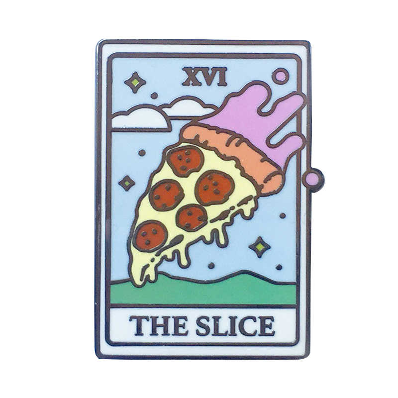 Pizza Tarot Card Emaille Pin