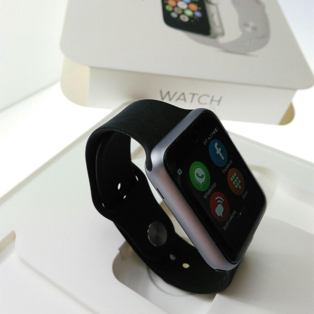 MTK2502C Bluetooth font b Smart b font Watch IWO 1 1 I68 Smartwatch With Heart Rate