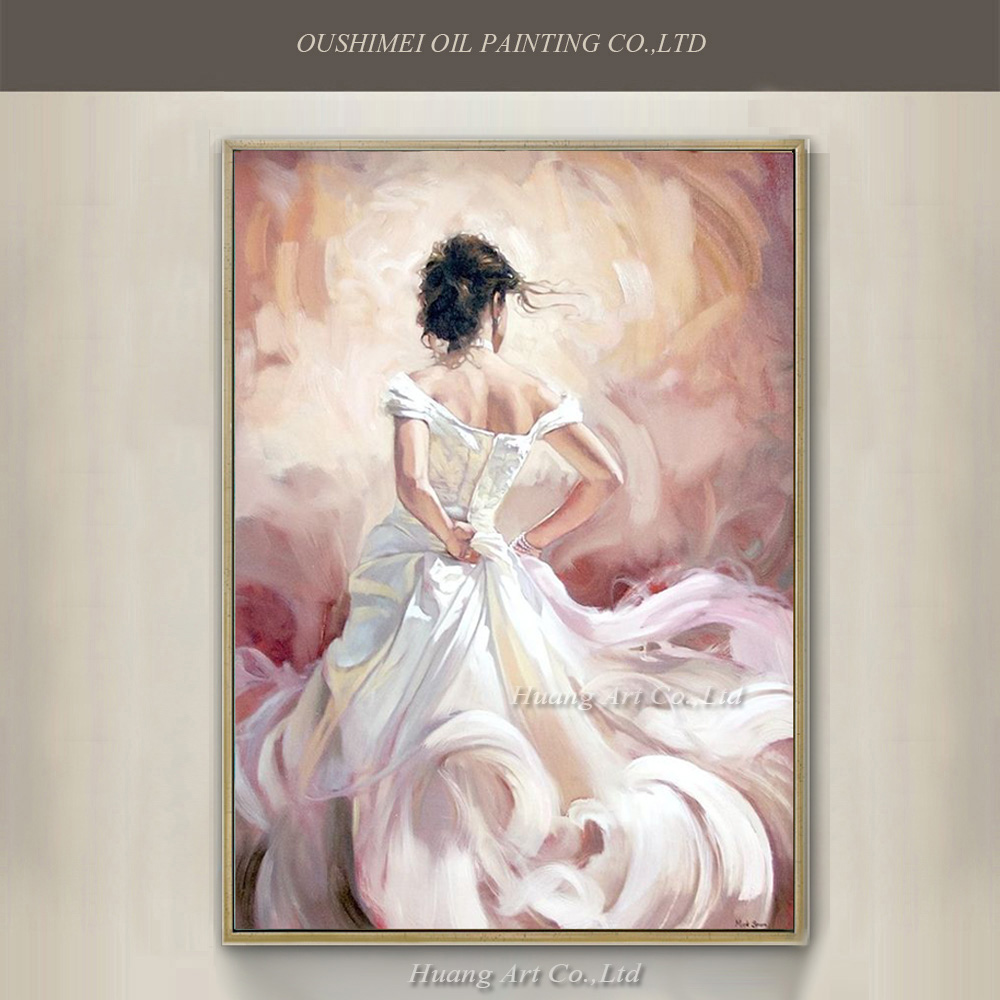 Pure Handmade Flamenco Dancers Modern Sexy Back Character -3010
