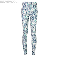 Dollars 3D Printing Women Legging Casual Summer Hot Sale New Arrival Pant Ankle Length Sexy Bodycon