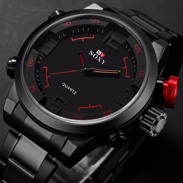 Mens Luxury Army Sport Wrist Watch Waterproof Analog Quartz Watches Mens Watches Top Brand Luxury Bayan Kol Saati Erkek Saat Men