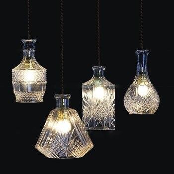 Светодиодный подвесной светильник LukLoy для винных бутылок, Подвесная лампа для кафе-бар, Подвесная лампа для кухни, Подвесная лампа для стол...
