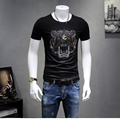 KUBEIYING men's Summer Fashion Print T-shirts men Slim Short Sleeve T Shirt Casual O-Neck Unique Novelty Custom Clothes