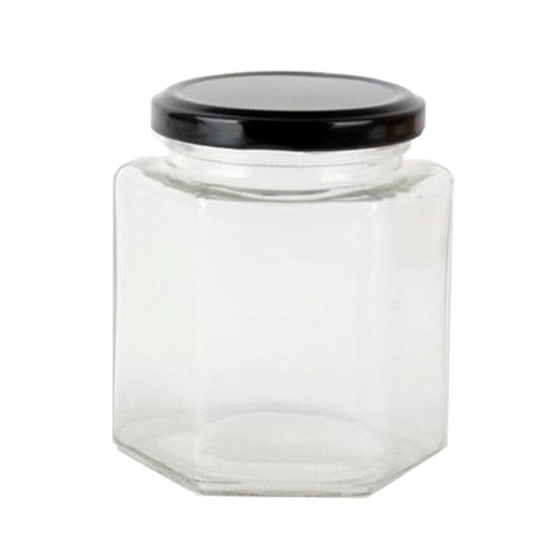 Vasi Vetro Ingrosso.Esagonale Vaso Di Vetro 110 Ml 180 Ml Vuote Esagonale Miele