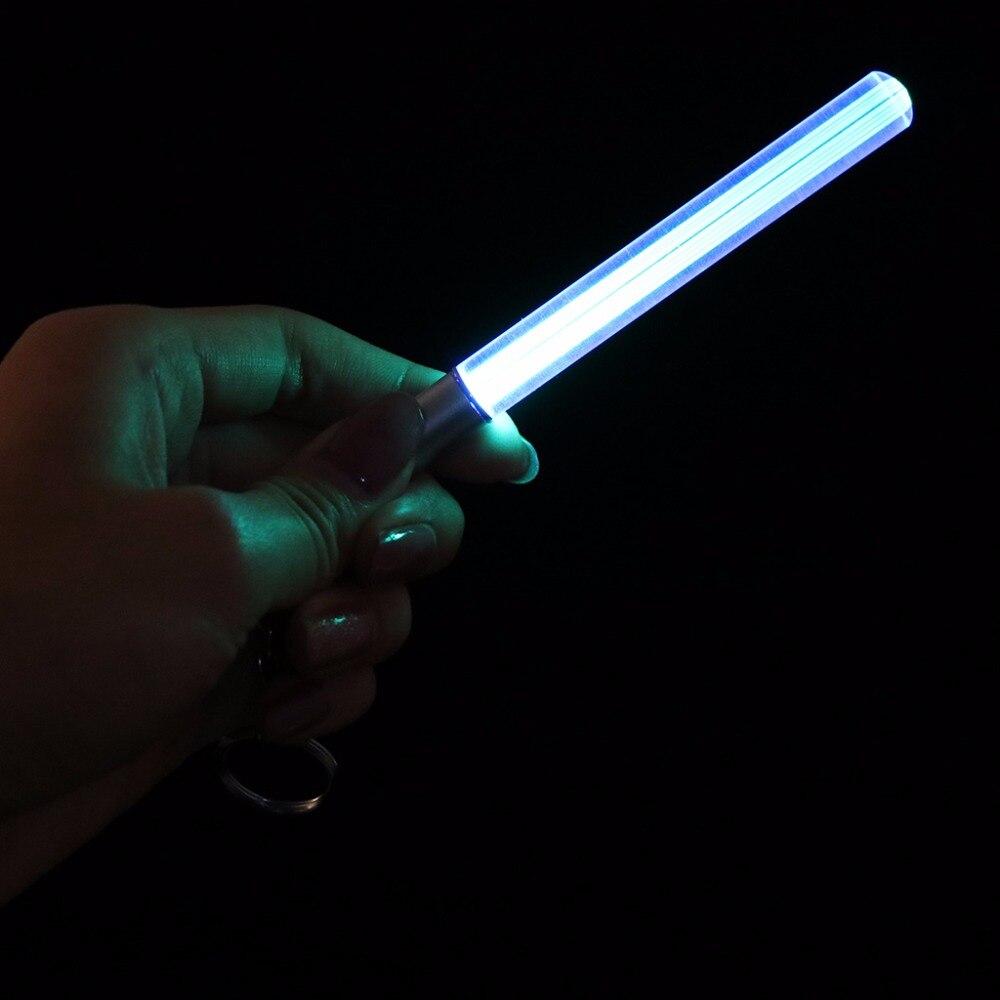 Magic Wand Stick Lightsaber Keychain LED Light Durable Glow Pen Flash Torch-TwFi