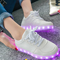 Fashion Led Shoes For Adults High Quality Women Lights USB Charging Colorful Luminous Shoes Lovers Casual Led Light Up shoes