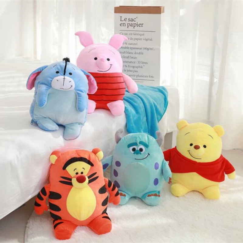 Cartoon Bear Monster Stuffed Toys Cushion Plush Blanket Birthday Christmas Gift Toy #1137