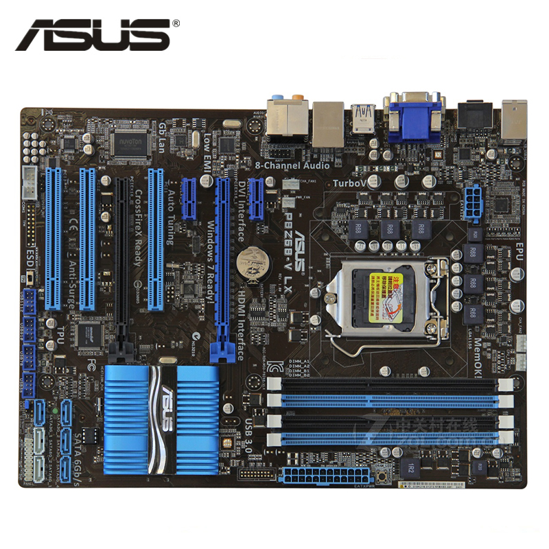 ASUS P8Z68-V LX Motherboard LGA 1155 DDR3 32GB For Intel Z68 P8Z68-V LX Desktop Mainboard Systemboard SATA III PCI-E X16 Used