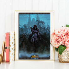 World Of Warcrafts Sylvanas The Storm Heroes Art Canvas Poster Oil Painting Wall Picture Print Home Bedroom Decoration Artwork