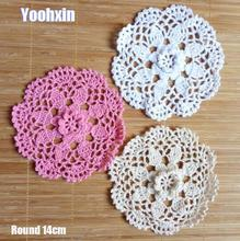 Modern round 3D lace cotton table place mat crochet coffee placemat pad Christmas drink coaster cup mug tea dining doily kitchen modern round lace cotton table place mat crochet coffee placemat pad christmas drink coaster cup mug tea dining doily kitchen