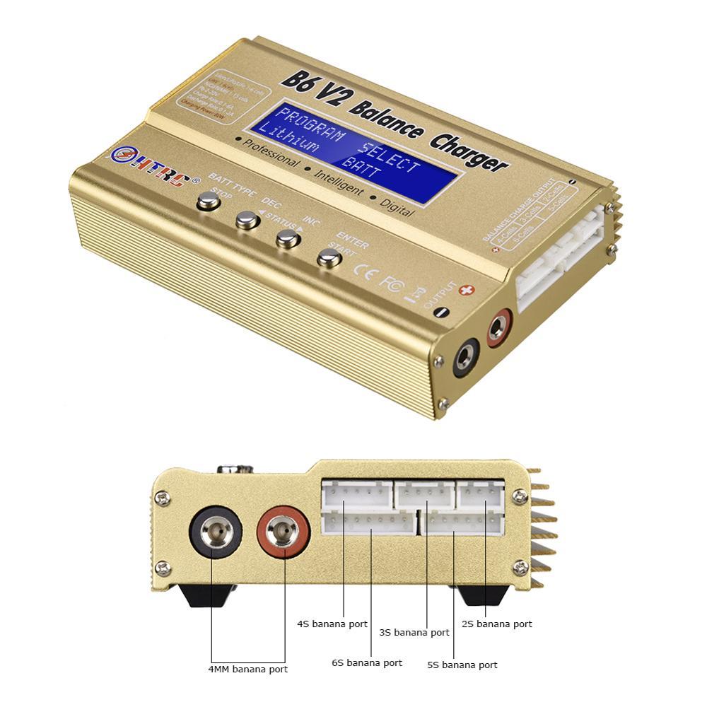 Image 5 - HTRC iMax B6 V2 LiPo зарядное устройство 80 Вт светодиодный баланс Dis зарядное устройство для Lipo Li Ion LiFe NiCd NiMH LiHV PB Зарядное устройствоДетали и аксессуары   -