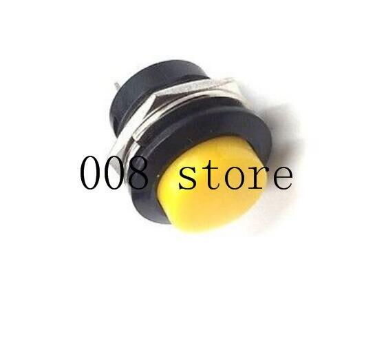 6 шт. 16 мм самовозвратный Мгновенный кнопочный переключатель 6A/125VAC 3A/250VAC R13-507 - Цвет: yellow