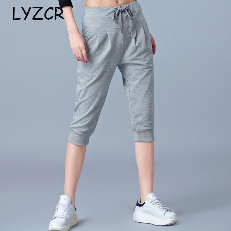 High Waist Stretch Women Capris Harem Pants Summer Knee Length 5XL 6xl Plus Size Pants For Women Loose Women's Pants Trousers