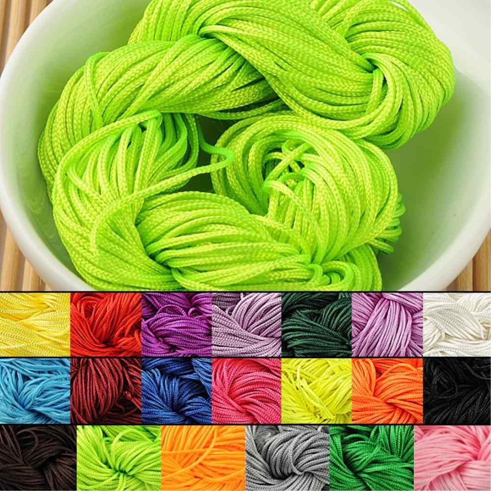Nouveautés couleur bonbon Nylon fil cordon fil chinois noeud macramé hochet 1mm * 20M pour bracelet à bricoler soi-même tressé
