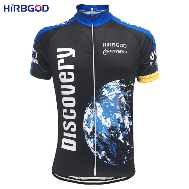 Hirbgod Discovery Retro Classic Cycling Jersey Men Short Sleeve