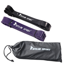 free shipping black and purple combination strength resistance bands pull up strengthen muscles