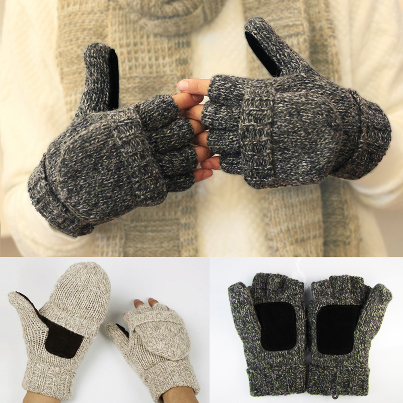 Supply Autumn Winter Women Men Thin Elastic Fingerless Gloves 2018 Half Finger Knitted Stretch Soft Warm Patchwork Unisex Fashion Casua A Great Variety Of Goods Apparel Accessories