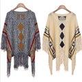 Senhora Borla Cortar Mulheres Suéter Outono Inverno Capa Poncho Camisola de Grandes Dimensões Borla Camisola de Gola Alta Plus Size A181