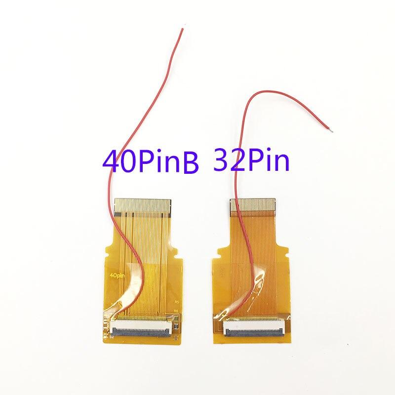 Pour Nintendo GameBoy avance écran LCD pour GBA SP AGS 101 Highlit écran LCD OEM rétro-éclairé plus lumineux avec 40pin 32pin câble ruban - 6
