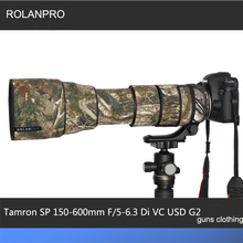 Rolanpro tamron sp 150 600mm f/5 6.3 di vc usd g2 a022 보호 총 의류 위장 카메라 코트 렌즈 보호 슬리브