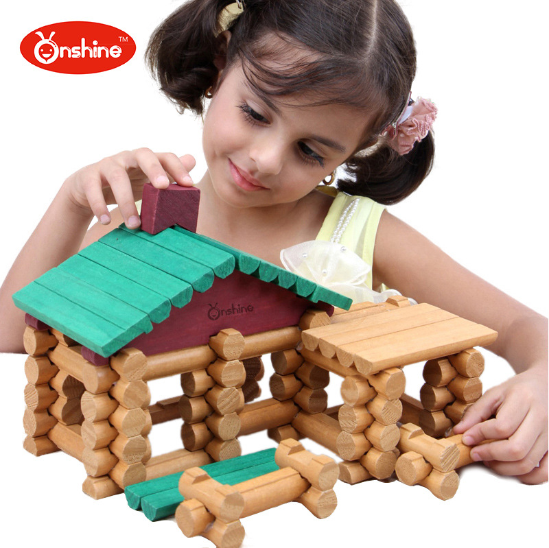 Onshine Baby Toys Birthday Gift Wooden Tree Haus 90Pcs Building Blocks House Wooden Toys General Store Treehaus Lumber Forest ...