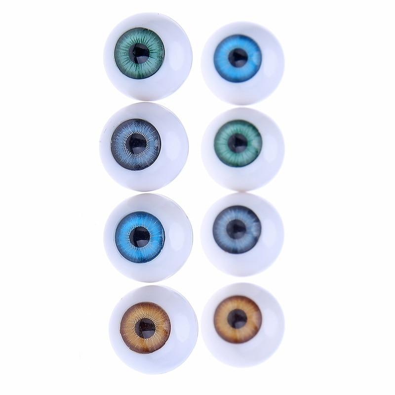 4 Pairs 22 мм Круглый Куклы Глаза Для DIY Акриловые Игрушки Глаз Ремесло Куклы Медведь Кукольный Глазное Яблоко Красочный Декор