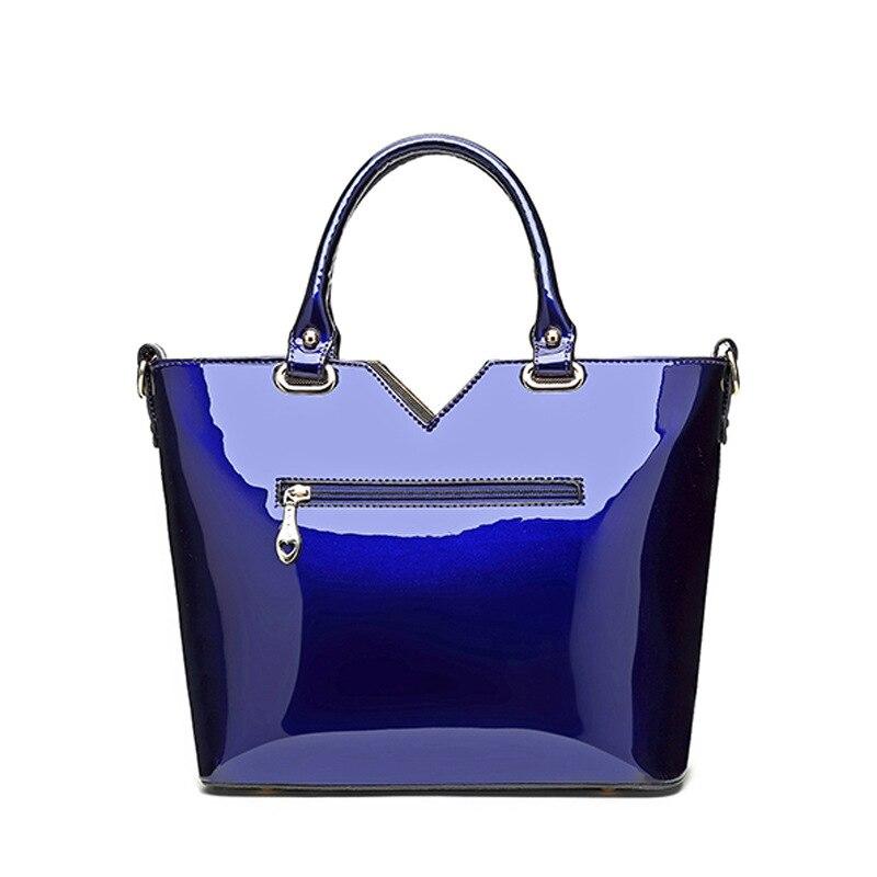 2017 New Patent Leather Women Handbag Brand Shoulder Bag Luxury Fashion Tote Clutch Sequins Diamond Messenger Bag Bolsa Feminina