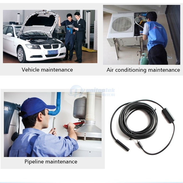 1M 2M 3.5M 5M Soft Flexible Snake WIFI Endoscope Camera HD 720P 8mm 1.0MP Borescope Pipe Inspection Camera Android iPhone