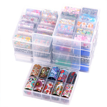 10pc/box Nail Art Transfer Foil for Lace leopard flower Effect Sticker Decal Manicure Accessories